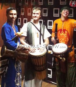 Азиатское барабанное шоу